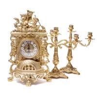 Камінні годинники Barka і 2 канделябра на 3 свічки 82.101-80.327 Alberti Livio