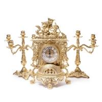 Каминные часы Barka и 2 канделябра на 5 свечей 82.101-80.328 Alberti Livio