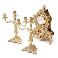 Каминные часы и 2 канделябра на 3 свечи 02-80.327