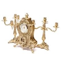 Каминные часы и 2 канделябра на 5 свечей 02-80.328 Alberti Livio