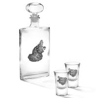Чарки для горілки 2 шт і штоф Ведмідь Chinelli