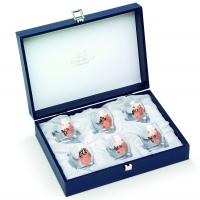 Набір чарок для горілки 6 шт rose gold Chinelli