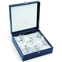 Набір келихів для віскі 6 шт silver Chinelli