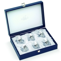 Набір чарок для горілки 6 шт silver Chinelli