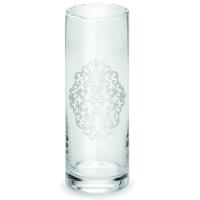 Ваза для квітів з сріблястим декором 30 см Chinelli