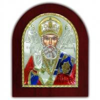 Икона Святой Николай Чудотворец EP5-009XAG/P/C Silver Axion