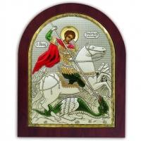 Икона Святой Георгий Победоносец EP5-010XAG/P/C Silver Axion