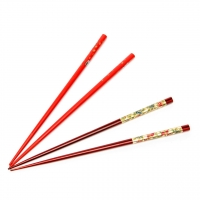 Набор палочек для еды суши красно коричневый 2 пары 14