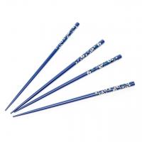 Набор палочек для еды суши темно синий 2 пары 16