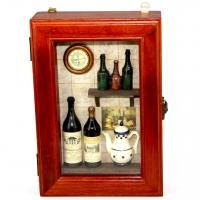 Ключница для дома настенная Бутылки вина 58301A Decos