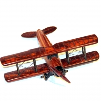Модель самолета биплана деревянная N2
