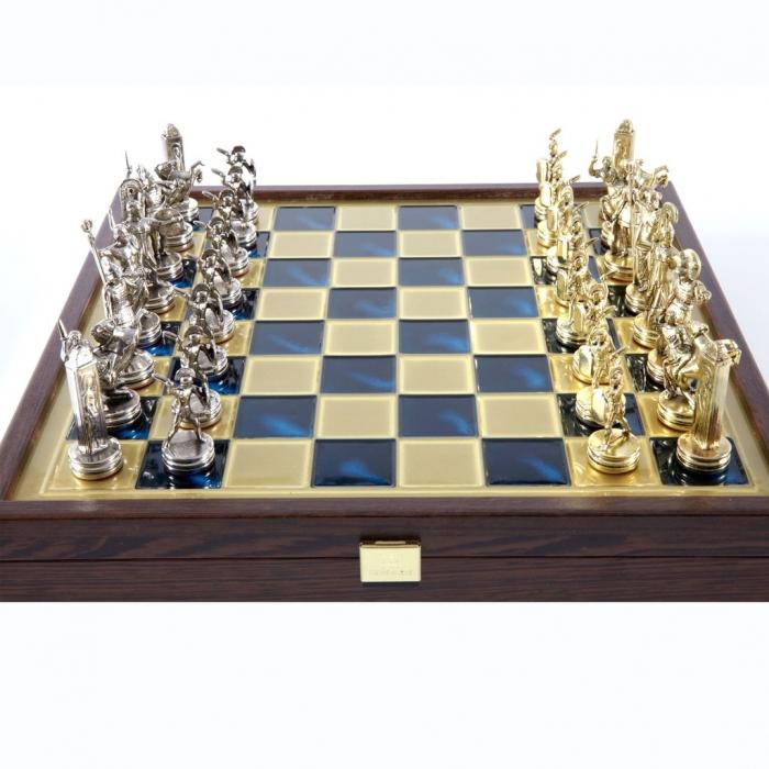 """Шахматы """"Ренессанс"""" в деревянной коробке SK9BLU"""