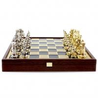 Шахматы Греко Римский период в деревянном кейсе SK11BLU