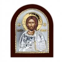 Икона Иисуса Христа EP2-001XAG/P Silver Axion