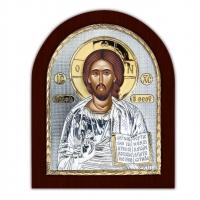 Икона Иисус Христос EP3-001XAG/P Silver Axion