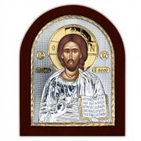 Ікона Ісуса Христа Спасителя EP4-001XAG/P Silver Axion