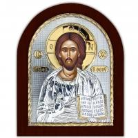 Икона Иисус Христос Спаситель EP5-001XAG/P Silver Axion