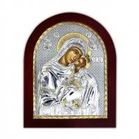 Икона Богородицы Сладкое Лобзание EP2-002XAG/P Silver Axion