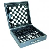 Шахматы из мрамора в подарочном футляре 1007 Italfama