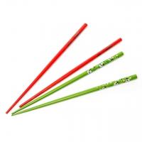 Набір паличок для їжі зелений з червоним 2 пари 22