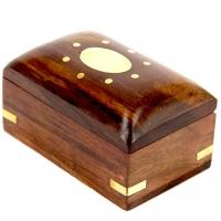 Шкатулка из дерева сундучок Солнышко WB110-2