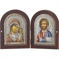 Икона Диптих Казанской Богоматери и Иисуса Христа 85202 4LCOL Valenti