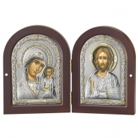 Ікона Диптих Казанська Богоматір і Ісус Христос 85202 4LORO