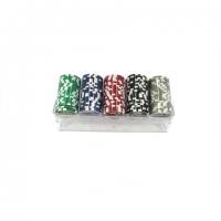 Набор фишек для покера 100 шт с номиналом W-100