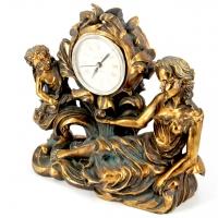 Часы для камина с ангелом и девушкой