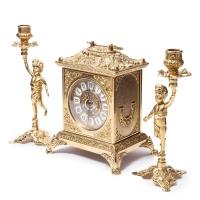 Каминные часы и 2 подсвечника на 1 свечу Bambino 82.108-80.325