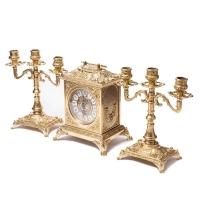 Каминные часы и 2 подсвечника на 3 свечи 82.108-80.410