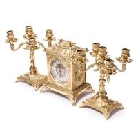 Каминные часы и 2 канделябра на 5 свечей 82.108-80.411
