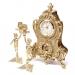 Каминные часы и 2 подсвечника для 1 свечи Bambino 02-80.325 Alberti Livio
