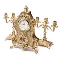 Камінні годинники і 2 канделябра на 3 свічки 02-80.410 Alberti Livio