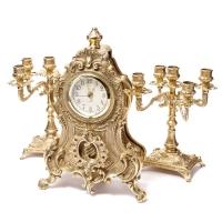 Камінні годинники і 2 канделябра на 5 свічок 02-80.411