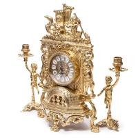 Каминные часы Barka и 2 подсвечника на 1 свечу Bambino 82.101-80.325