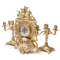 Каминные часы и 2 подсвечника на 5 свечей 82.101-80.411