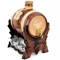 Мини бар-бочка элитный с рюмками Олень 103-VAD Artistica Artigiana