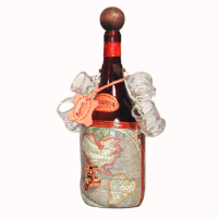 Пляшка з чарками для алкоголю міні-бар Стара карта 661-MO Artistica Artigiana