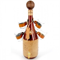 Мини-бар бутылка штоф с рюмками для алкоголя 670-VA Artistica Artigiana