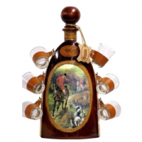 Набор эксклюзивный мини-бар бутылка-штоф со стопками Охота 675-VA Artistica Artigiana