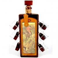 Мини-бар бутылка штоф и стопки Охота 676-VA