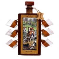Мини-бар бутылка штоф и стопки Охота 676-VA Artistica Artigiana