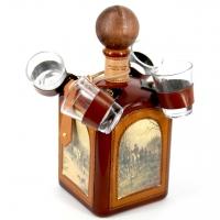 Бутылка мини-бар штоф с рюмками Охота 677-VA Artistica Artigiana