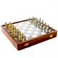 Эксклюзивные шахматы из дерева и латуни G334