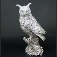 Статуэтка сова с посеребрением PL0206H-12