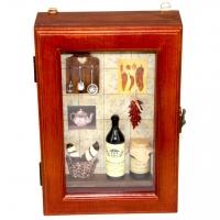 Ключница для дома на стену Бутылка вина 58301F Decos