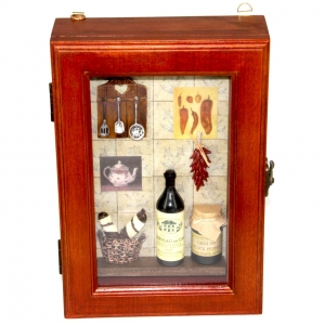 Ключница для дома на стену Бутылка вина 58301F