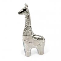 Статуетка жираф срібляста 23 см HY9352-2