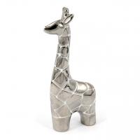 Статуэтка жираф серебристый 18 см HY9352-3 жираф